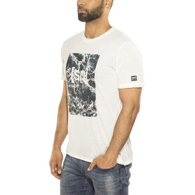 super.natural Digital Graphic Tee 140 Men Fresh White/Logo Waves Print